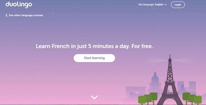 Screenshot DuoLingo Learn French